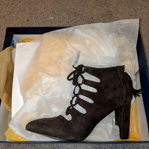 Adrianne Vitaddini Neano suede shooties NIB